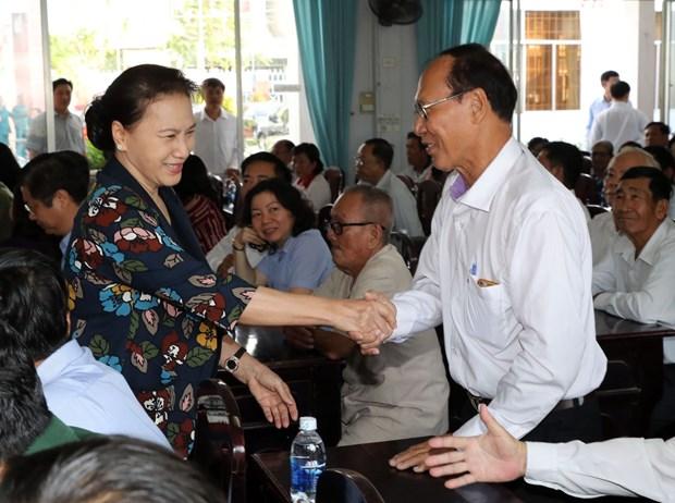 国会主席阮氏金银:选民们提出的意见将成为国会代表讨论的问题 hinh anh 2