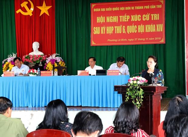 国会主席阮氏金银:选民们提出的意见将成为国会代表讨论的问题 hinh anh 1