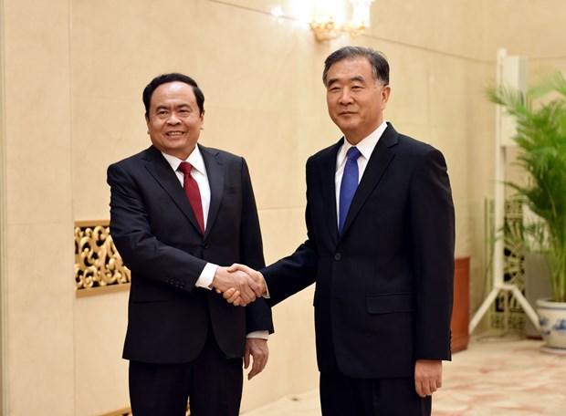 加强越南祖国阵线与中国政协的合作 hinh anh 1