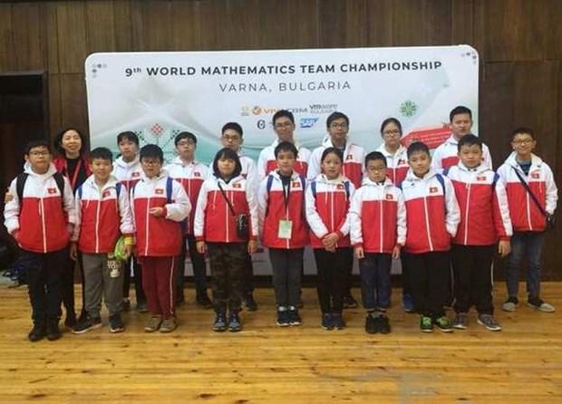越南代表队在世界数学团体锦标赛勇夺9金 hinh anh 1