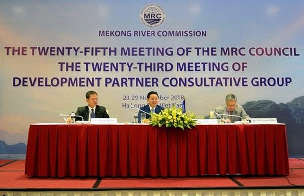 湄委会理事会第25次会议今日举行 hinh anh 1