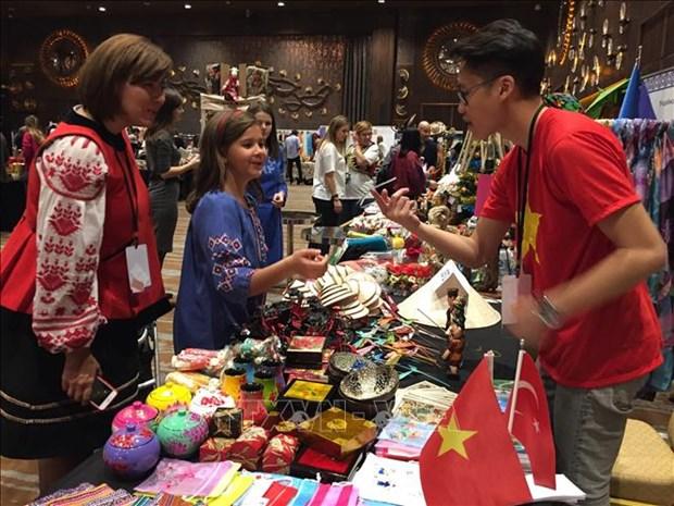 越南驻土耳其大使馆参加在土耳其的慈善义卖活动 hinh anh 1