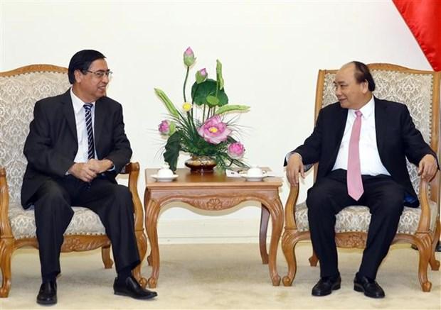 阮春福总理会见旅居海外越南人联络协会代表 hinh anh 1