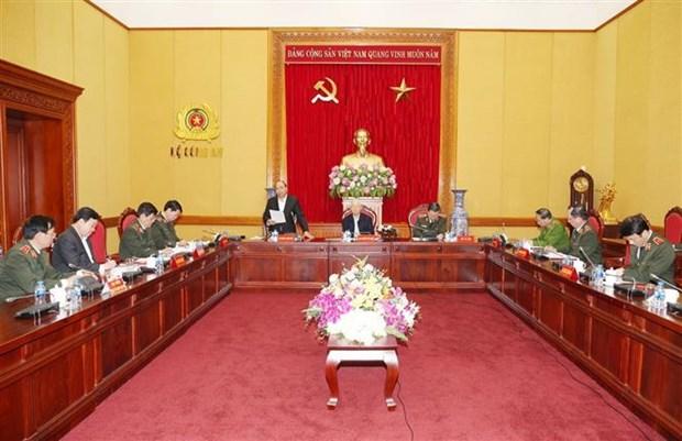 越共中央公安党委常委会召开2018年工作总结暨2019年工作部署会议 hinh anh 2