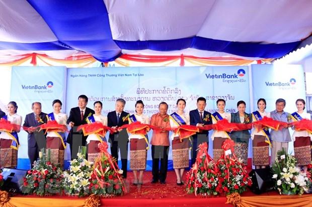 越南工商(老挝)责任有限银行万象分行今日正式揭牌 hinh anh 1