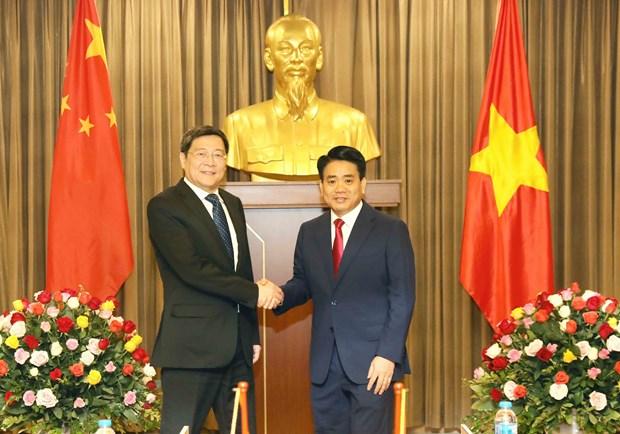 越共中央经济部部长阮文平会见中国共产党代表团 hinh anh 2