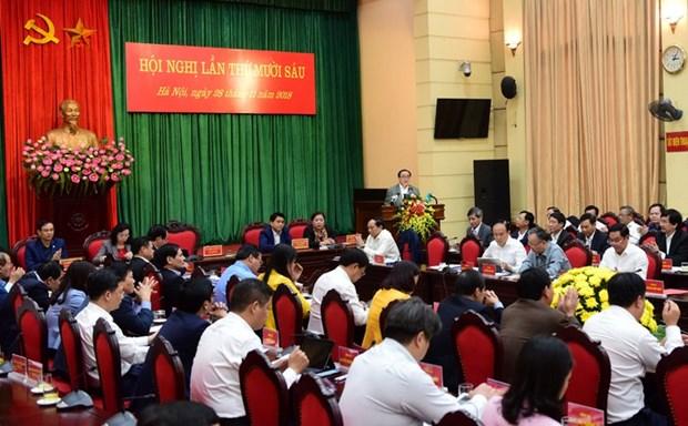 河内市出色完成全部20项经济社会目标任务 hinh anh 1
