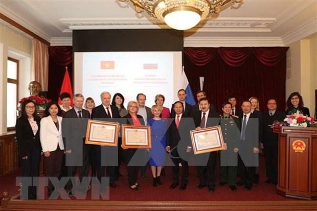 俄罗斯三所大学获越南友谊勋章 hinh anh 1