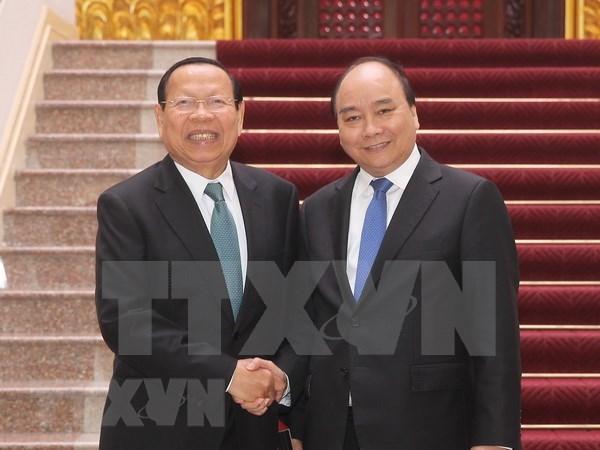 越南政府总理阮春福会见柬埔寨计划部大臣蔡唐 hinh anh 1