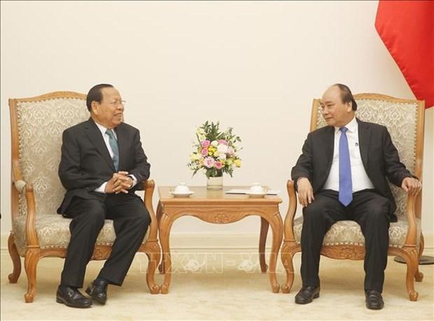 越南政府总理阮春福会见柬埔寨计划部大臣蔡唐 hinh anh 2
