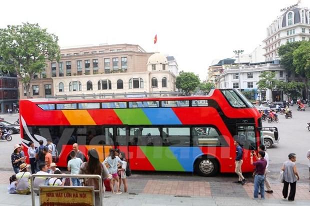 免费体验首都河内双层观光巴士 hinh anh 1