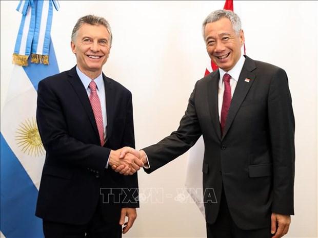 阿根廷和新加坡致力于推动双边贸易增长 hinh anh 1