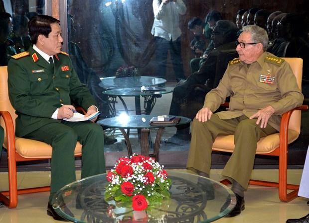 加强越南与古巴两党、两国政府和武装力量的合作 hinh anh 2