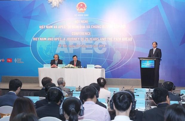 越南加入亚太经合组织20年成果及未来走向 hinh anh 1