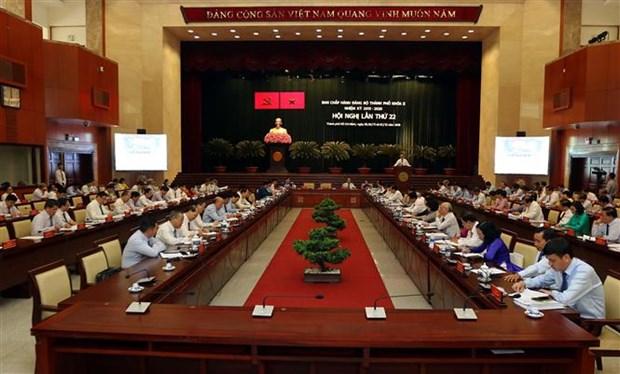 越共胡志明市第十届委员会第22次全体会议落幕 hinh anh 2