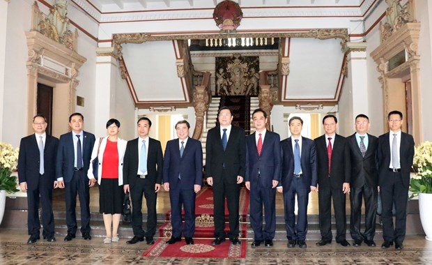 胡志明市人民委员会主席会见中国湖南省省委书记 hinh anh 3