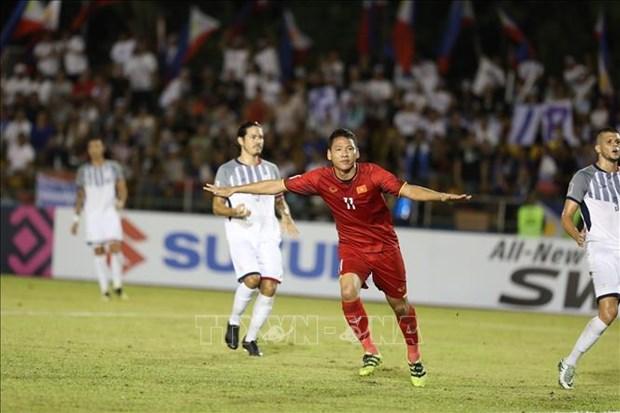 AFF Suzuki Cup 2018:越南球队客场完胜菲律宾球队 为进入决赛铺平道路 hinh anh 1