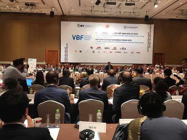 2018年越南企业末期论坛将集中讨论许多重要内容 hinh anh 1