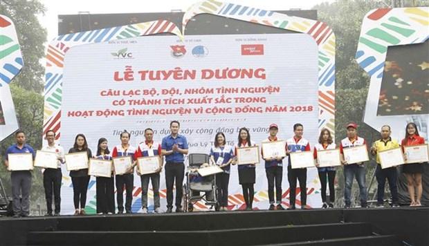 2018年国家志愿奖颁奖仪式在河内举行 18个集体和个人获奖 hinh anh 2