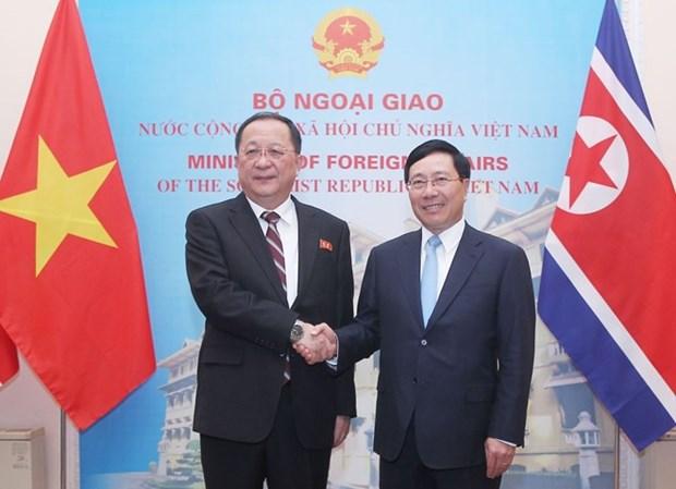 朝鲜中央通讯社报道有关该国外交部长李勇浩访越之行 hinh anh 1