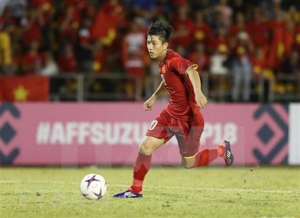 AFF Suzuki Cup 2018: 潘文德是越南对阵菲律宾赛场上的最佳球员 hinh anh 1