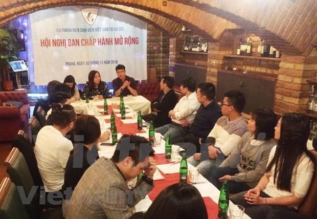 旅捷越南青年大学生为旅捷越南人社群各项活动做出积极贡献 hinh anh 1