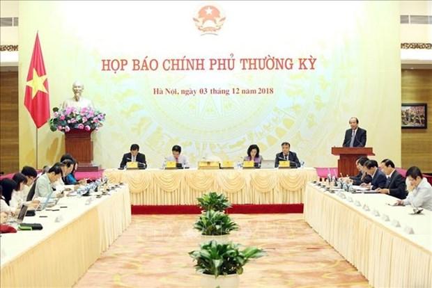 政府11月份例行会议新闻发布会:2017年越南电力产业损失2.2万亿越盾 hinh anh 1