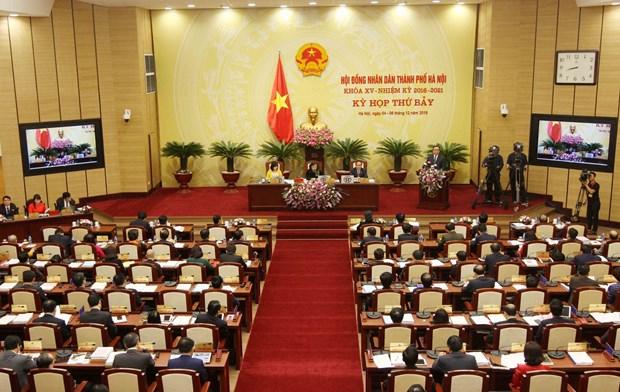 越南河内市第十五届人民议会第七次会议今日在河内召开 hinh anh 1