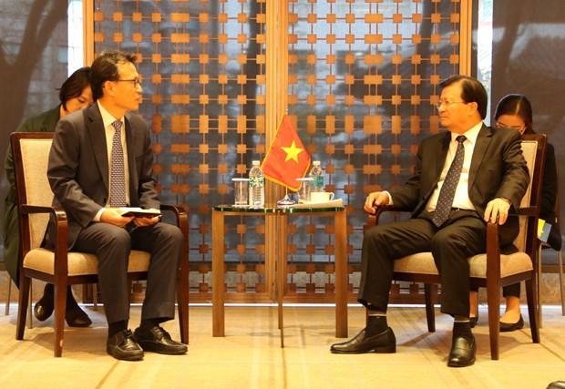 越南政府副总理郑廷勇高度评价韩国企业的地位和作用 hinh anh 1