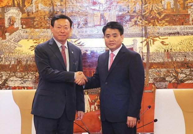 韩国乐天集团拟扩大对河内的投资力度 hinh anh 1