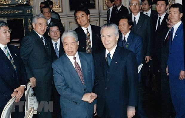 已故越共中央总书记杜梅荣获日本政府旭日勋章 hinh anh 1