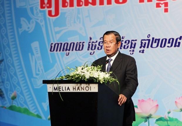 政府总理阮春福与柬埔寨首相洪森出席越柬商业论坛 hinh anh 3