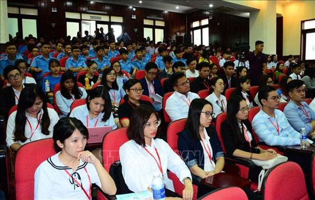 2018年胡志明市国际大学生科学论坛开幕 上千名国内外学生齐聚一堂 hinh anh 2