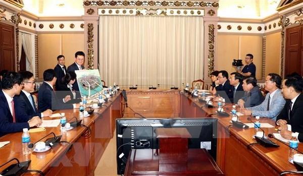 胡志明市与韩国乐天集团合作建设基础设施项目 hinh anh 1