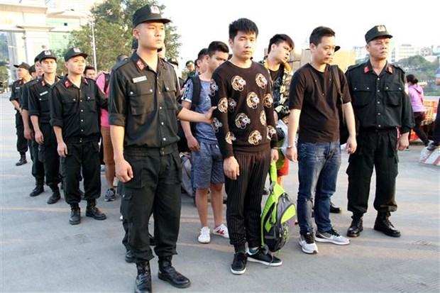 10名中国人因涉嫌网络诈骗被越南老街省警方抓获 hinh anh 1