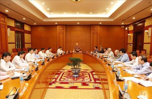 越共十三大文件起草小组常务委员会召开第一次会议 hinh anh 1