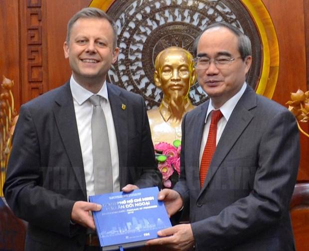 胡志明市与德国莱比锡加强合作关系 hinh anh 1