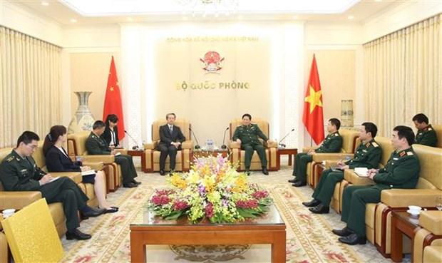 越南国防部部长吴春历大将会见中国新任驻越大使 hinh anh 1