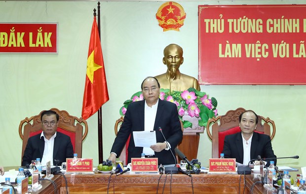 阮春福总理同得乐省领导进行座谈 hinh anh 1