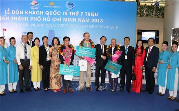 胡志明市迎来2018年第700万名国际游客 hinh anh 1