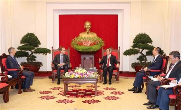 越共中央经济部部长会见谷歌集团全球事务副总裁 hinh anh 1