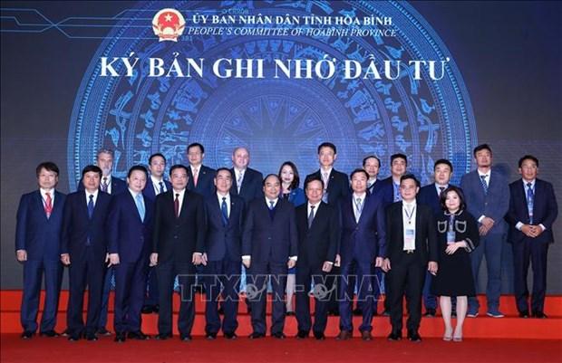 阮春福总理出席和平省2018年投资促进会议 hinh anh 1
