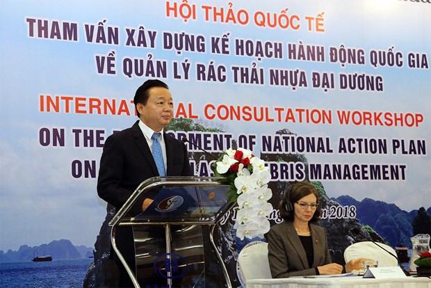 越南拟定海洋塑料垃圾管理国家行动计划 hinh anh 1