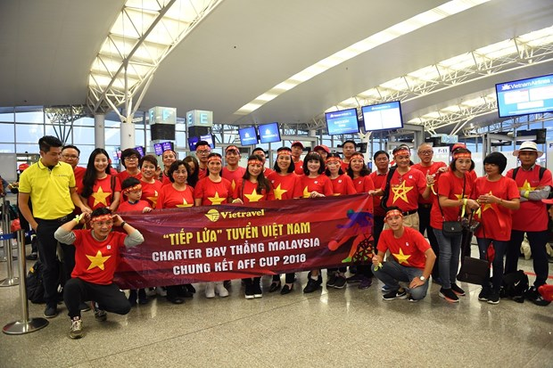 AFF Suzuki Cup 2018:越航将派宽体客机接送国足回国 hinh anh 1
