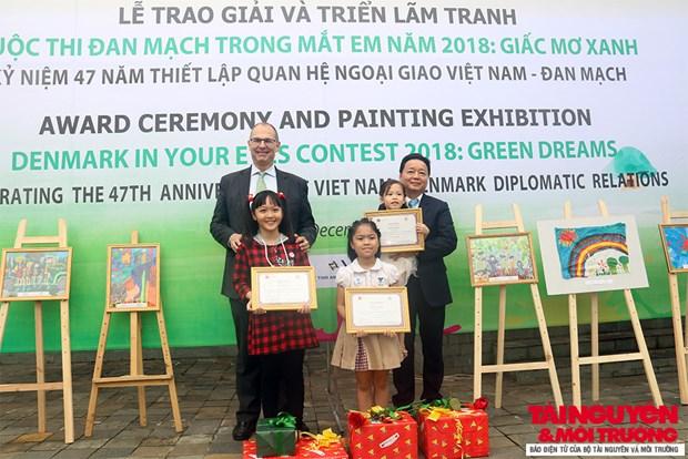 """2018年""""我眼里的丹麦""""儿童绘画比赛颁奖仪式在河内举行 hinh anh 2"""