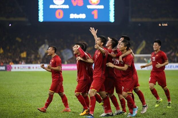 AFF Suzuki Cup 2018决赛第一回合:越南队2-2同马来西亚队握手言和 hinh anh 1