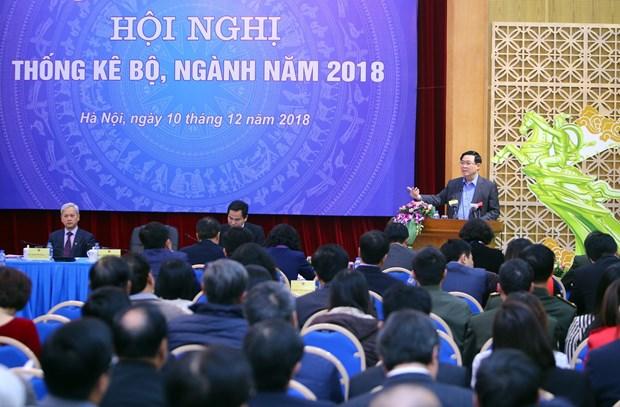 政府副总理王廷惠:统计工作对经济起到举足轻重的作用 hinh anh 1