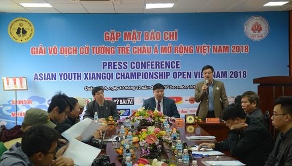 100多名棋手参加2018年越南亚洲青年象棋公开赛 hinh anh 1