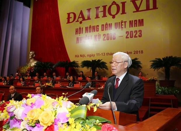 第七届越南农民协会全国代表大会隆重开幕 hinh anh 1