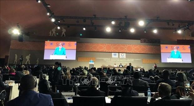越南代表出席政府间会议 通过联合国《全球移民契约》 hinh anh 1